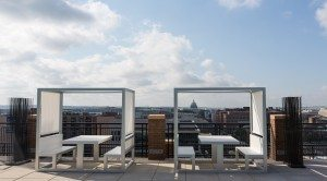 2M Street Apartments: DC Apartments: DC Rentals: Washington DC: Rooftop View: Capitol View: Pool Area