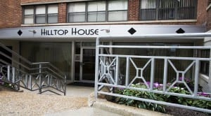 Hilltop House Apartments: DC Apartments:Building Entrance