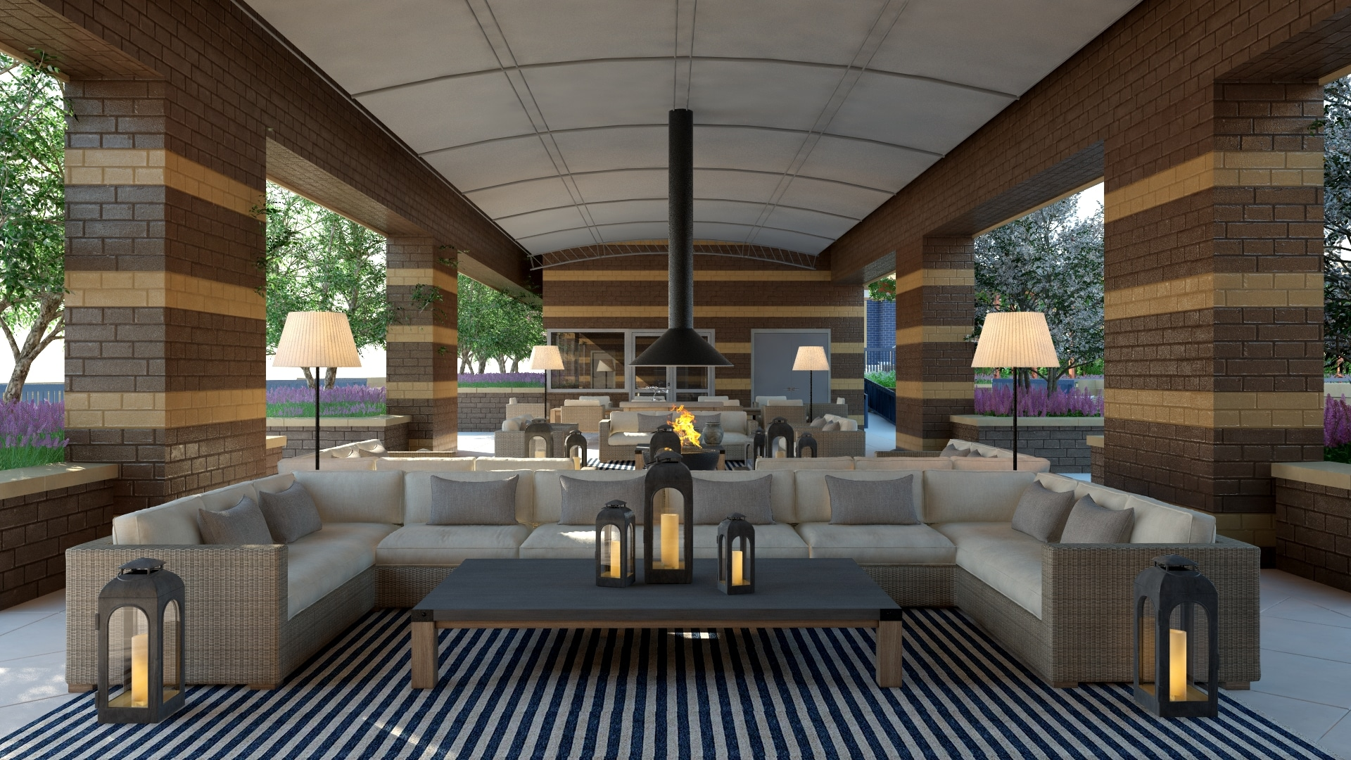 Park Chelsea Apartments | Rooftop Outdoor Living Room | Luxury, Pet-Friendly Apartments in Washington DC