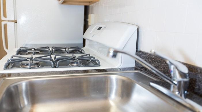 Hampton Courts: DC Apartments:Sink: Stove