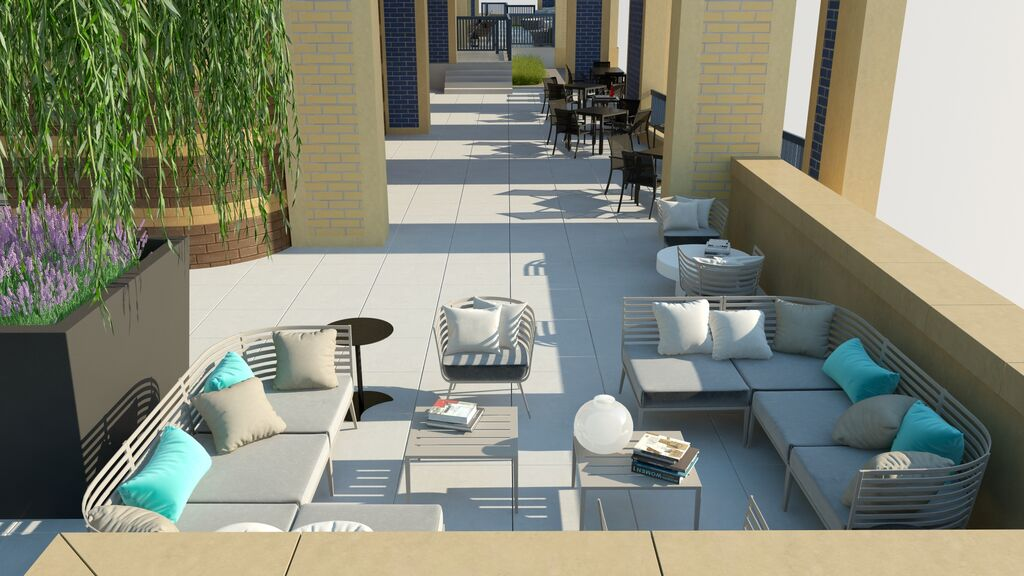 Park Chelsea Outdoor Rooftop Living Room | Luxury Pet-Friendly Apartments in Washington DC