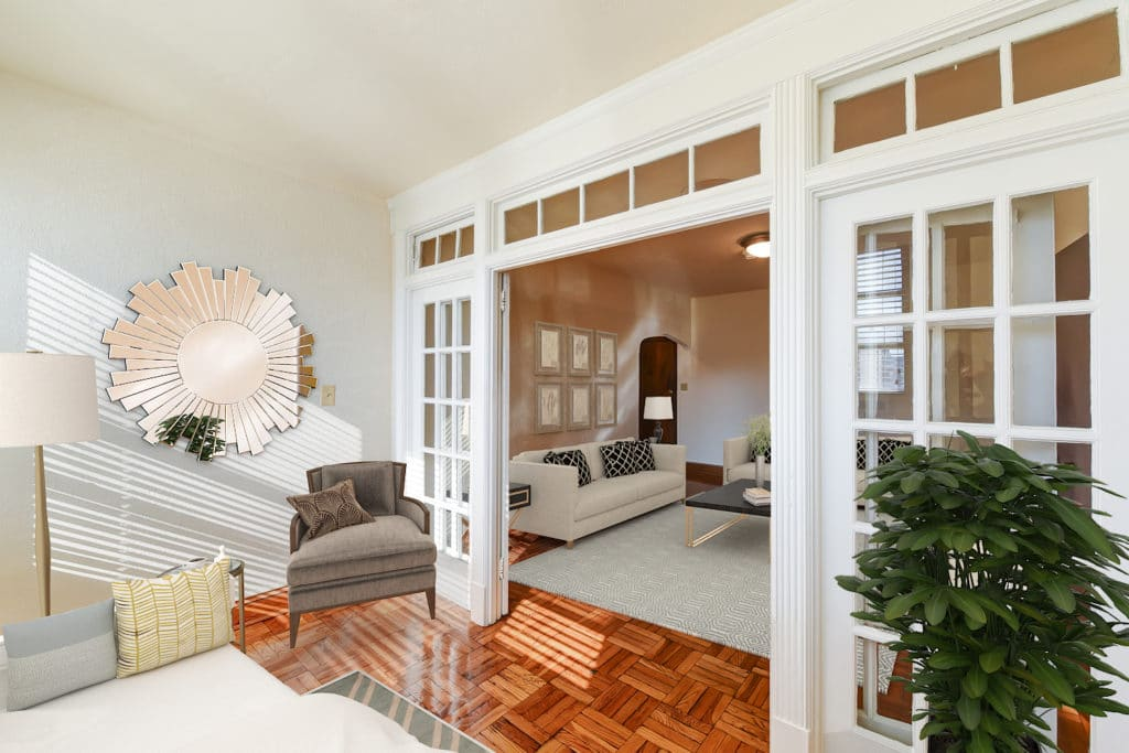 Eddystone-Apartments-Porch-French-Doors-Furniture-Washington-DC-Apartmnet-Rental