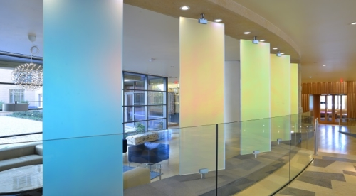 Living Glass in Lobby