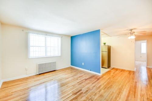 Garden-Village-Living-Room-Accent-Wall-Washington-DC-Affordable-Apartment-Rental