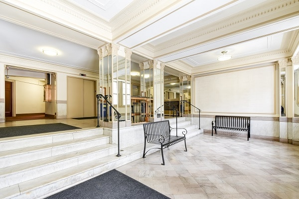 Wakefield-Hall-Lobby-Benches-Washington-DC-Apartment-Rental