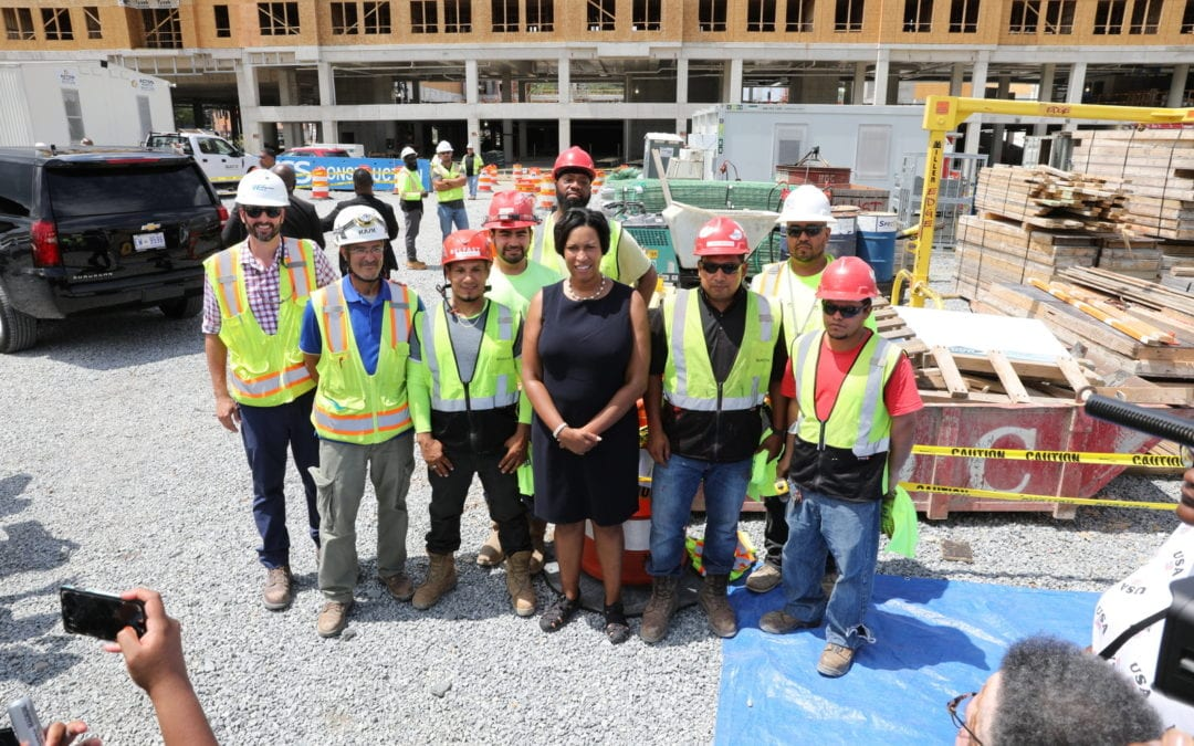 Mayor Bowser Joins WC Smith for Skyland Town Center Topping Out
