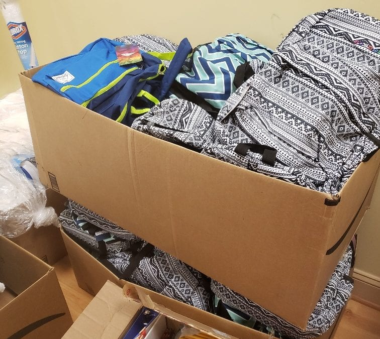 The Collective Residents Outfit Students for School with Backpack Drive