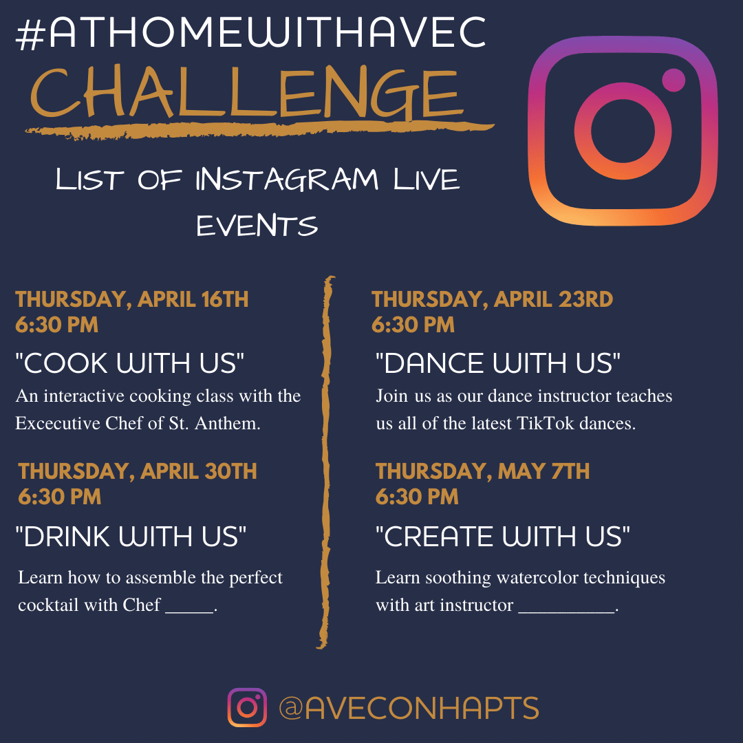 Avec on H Residents Connect, Support DC Businesses with #AtHomeWithAvec Challenge